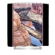 North Side Of Horseshoe Bend Shower Curtain