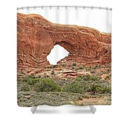 North Window Arch Shower Curtain