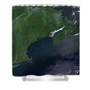 Northeast United States And Canada Shower Curtain