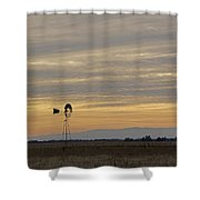 Northern California Windmill Shower Curtain