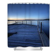 Northern Lake Evening Shower Curtain