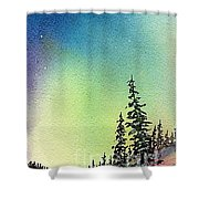 Northern Lights - D Shower Curtain