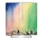 Northern Lights - F Shower Curtain