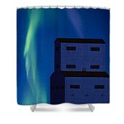 Northern Lights And Grain Elevator 2 Shower Curtain