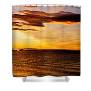 Northern Sunset Shower Curtain