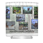 Northwoods Wildlife Shower Curtain