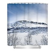 Norwegian Winter Shower Curtain