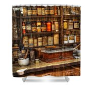 Nostalgia Pharmacy 2 Shower Curtain