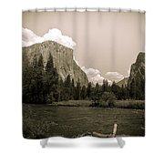 Nostalgic Yosemite Valley Shower Curtain