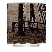 Notorious The Pirate Ship 4 Shower Curtain