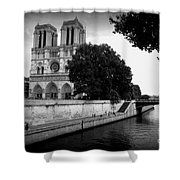 Notre Dame Along The Seine Shower Curtain