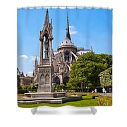 Notre Dame Cathedral Backside Shower Curtain