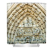 Notre Dame Cathedral Center Entry Shower Curtain
