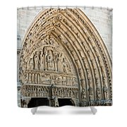 Notre Dame Cathedral Right Entry Door Shower Curtain