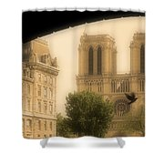 Notre Dame Cathedral Viewed Shower Curtain