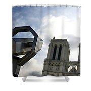 Notre Dame De Paris. France Shower Curtain