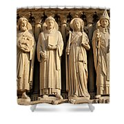 Notre Dame Details 1 Shower Curtain