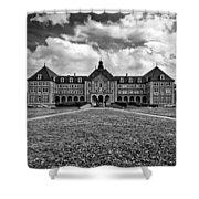 Notre Dame Seminary Monochrome Shower Curtain