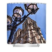 Notre Dame Tower Shower Curtain