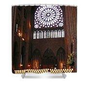 Notre Dame Votive Candles Shower Curtain
