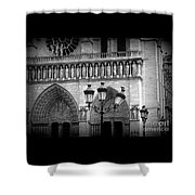 Notre Dame With Luminaires Shower Curtain