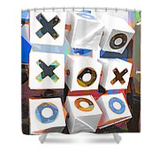 Noughts And Crosses Shower Curtain