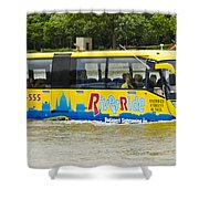 Novel River Boat Shower Curtain