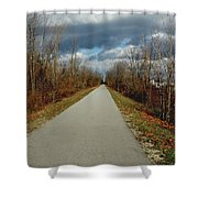 November On Macomb Orchard Trail Shower Curtain