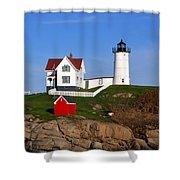 Nubble Light House Shower Curtain