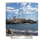 Nubble Light II Shower Curtain