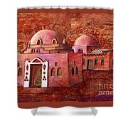 Nubian Houses Shower Curtain