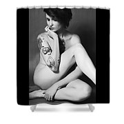 Nude 2012 Bw 2 Shower Curtain
