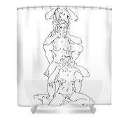 Nude Female Drawings 5 Shower Curtain