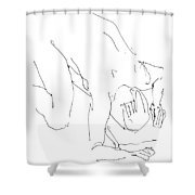 Nude-male-artwork-21 Shower Curtain