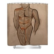 Nude Male Drawing Shower Curtain