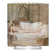 Nude On A Sofa Shower Curtain