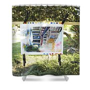 Number 4 Shower Curtain