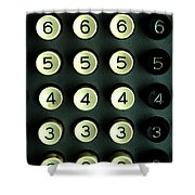 Numbers Game Shower Curtain