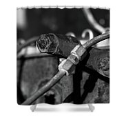 Nuts Bolts Pipes Shower Curtain