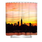 Ny Saturday Sunrise Shower Curtain