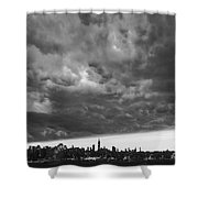 Ny Skyline Approaching Storm Shower Curtain