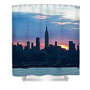 Ny Skyline Blue Dawn Shower Curtain