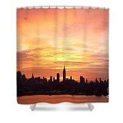 Ny Skyline -daybreak Splendor Shower Curtain