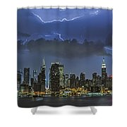 Nyc All Charged Up Shower Curtain