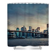 Nyc Skyline In The Sunset V1 Shower Curtain