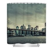 Nyc Skyline In The Sunset V2 Shower Curtain