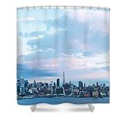 Nyc-sundown Blue I Shower Curtain