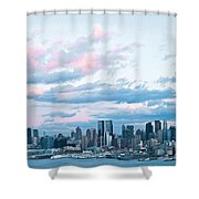 Nyc Sundown Blue II Shower Curtain