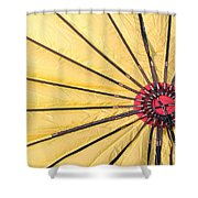 Nylon Sun Rays Shower Curtain