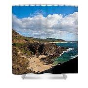 Oahu Coastal Getaway Shower Curtain